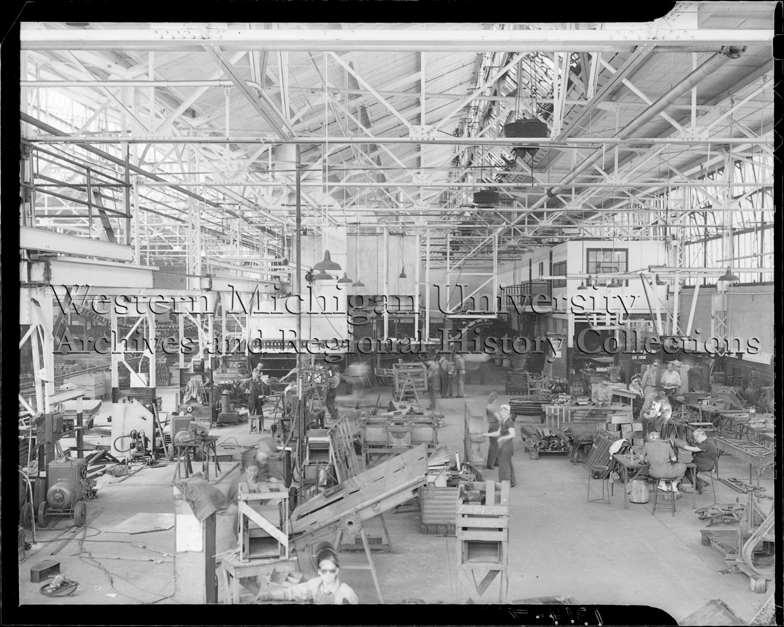 Ingersoll Steel, interior, employees in the production area