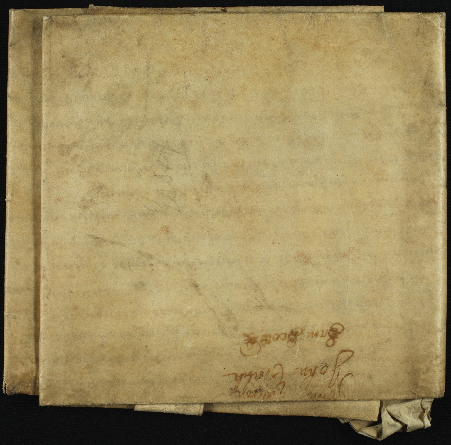 Mortgage, 1686, of Land in Essex to Dorothy Collard of Barnstone, folded, back