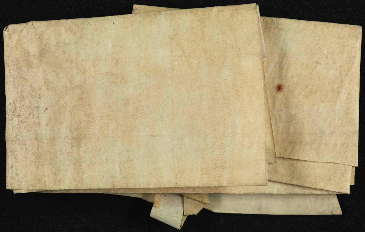 Will and Probate, 1626-1634, of Richard Lake [Leaks?], folded, back
